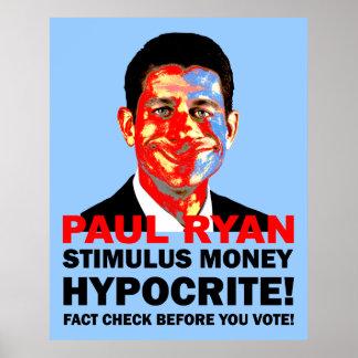 hypocrite Paul Ryan Poster