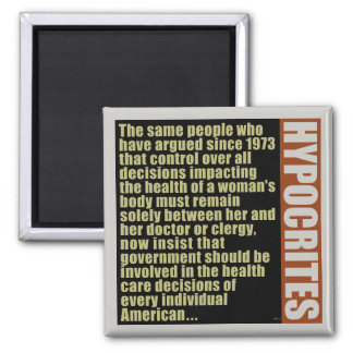 Hypocrites 2 Inch Square Magnet