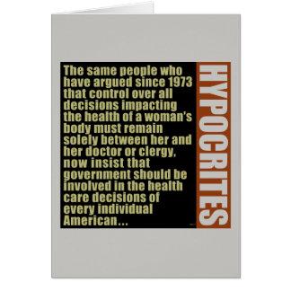 Hypocrites Card