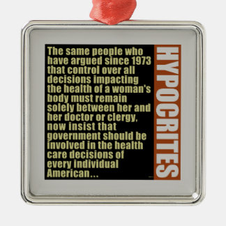 Hypocrites Metal Ornament