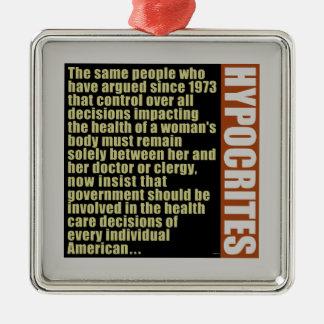 Hypocrites Metal Ornament
