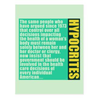Hypocrites Postcard