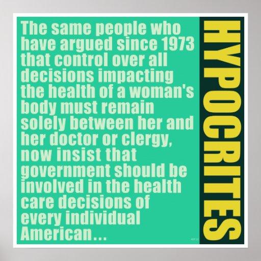 Hypocrites Posters