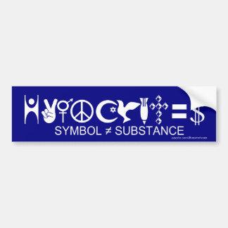 hypocrites symbol substance bumper sticker