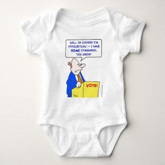 hypocritical vote standards baby bodysuit
