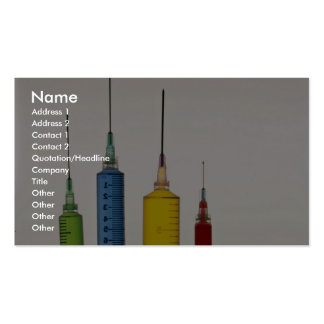 Hypodermic needles Double-Sided standard business cards (Pack of 100)
