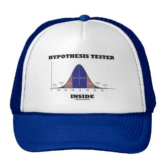 Hypothesis Tester Inside (Bell Curve Humor) Trucker Hats