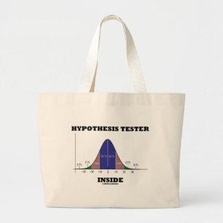 Hypothesis Tester Inside (Bell Curve Humor) Large Tote Bag