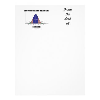 Hypothesis Tester Inside (Bell Curve Humor) Letterhead