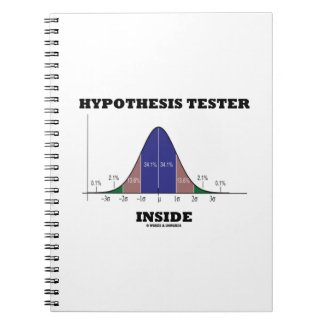 Hypothesis Tester Inside (Bell Curve Humor) Note Books