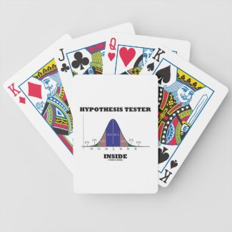 Hypothesis Tester Inside (Bell Curve Humor) Bicycle Card Deck