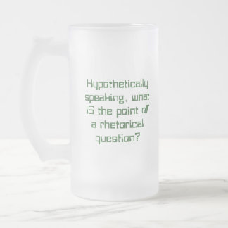 Hypothetically speaking 16 oz frosted glass beer mug