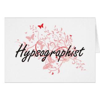 Hypsographist Artistic Job Design with Butterflies Card