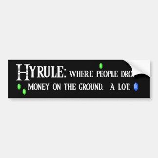 hyrule bumper2 car bumper sticker