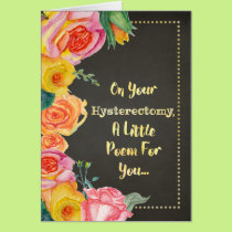 Hysterectomy Funny Get Well Card Poem