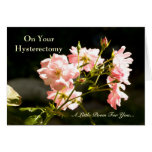 Hysterectomy Get Well Humorous Poem Greeting Card