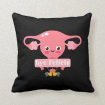 Hysterectomy Surgery Recovery Uterus Felicia Throw Pillow
