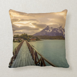 Hysteria Pehoe. Cordillera del Paine Throw Pillow