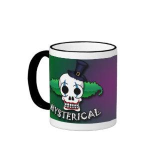 Hysterical Clown Skull Mug