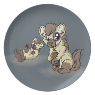 Hysterical Hyena! Melamine Plate