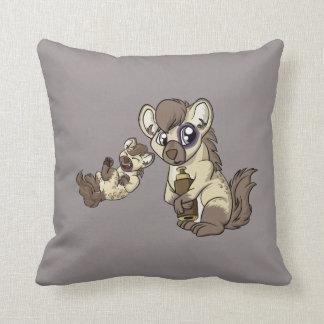 Hysterical Hyena! Throw Pillow