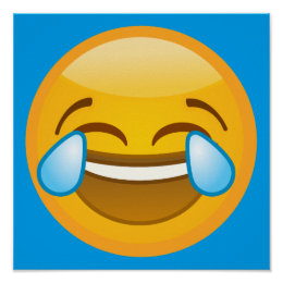 Hysterically Laughing Emoj Poster