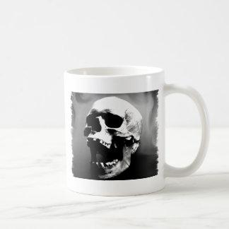 Hysteriskull Laughing Human Skull Classic White Coffee Mug