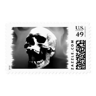 Hysteriskull Laughing Human Skull Postage Stamp