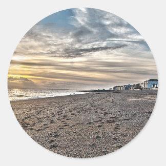 Hythe Sunset, Kent Classic Round Sticker