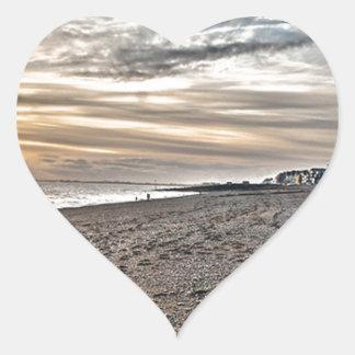 Hythe Sunset, Kent Heart Sticker