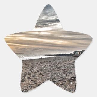 Hythe Sunset, Kent Star Sticker