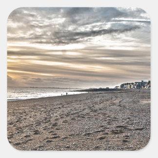 Hythe Sunset, Kent Square Sticker
