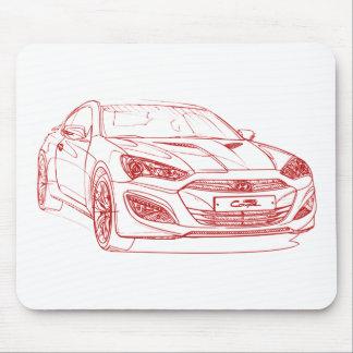 Hyu Genesis Coupe 2013 Mouse Pad