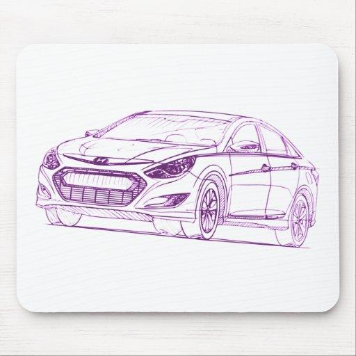 Hyu Sonata Hybrid 2011 Mouse Pad