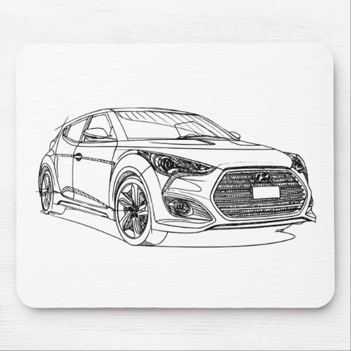 Hyu Veloster Turbo 2013 Mouse Pad