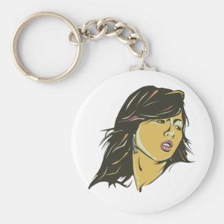 Hyuna Basic Round Button Keychain