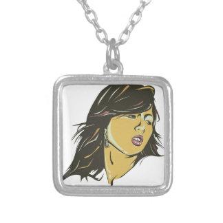 Hyuna Square Pendant Necklace