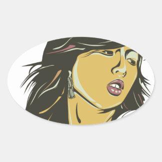 Hyuna Oval Sticker