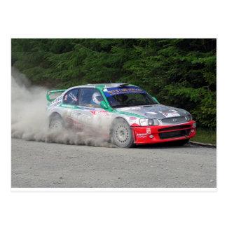 Hyundai Accent WRC Rally Car Postcard