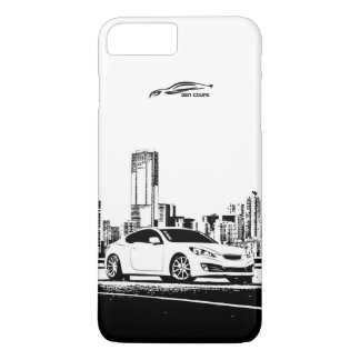 Hyundai Genesis Coupe with City Backdrop iPhone 8 Plus/7 Plus Case