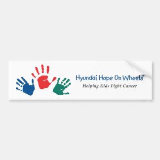Hyundai Hope On Wheels Bumper Sticker Car Bumper Sticker