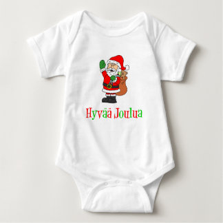 Hyvaa Joulua Finnish Christmas Santa Infant Creeper