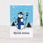 Hyvää Joulua Merry Christmas Finland Snowman