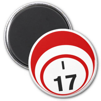 I17 bingo ball fridge magnet