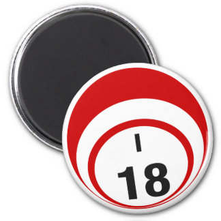 I18 bingo ball fridge magnet