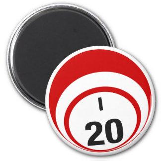 I20 bingo ball fridge magnet
