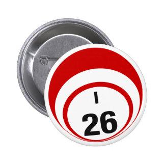 I26 Bingo Ball button