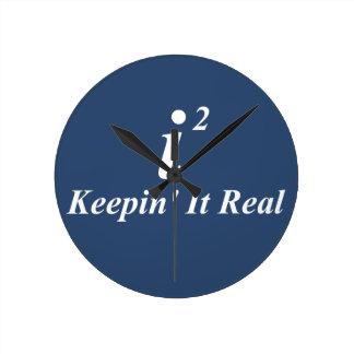 i2 que lo mantiene real reloj redondo mediano