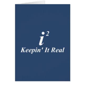 i2 que lo mantiene real tarjeta de felicitación