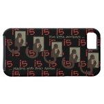 Five Little Monkeys iphone5 Case - Red on Black
